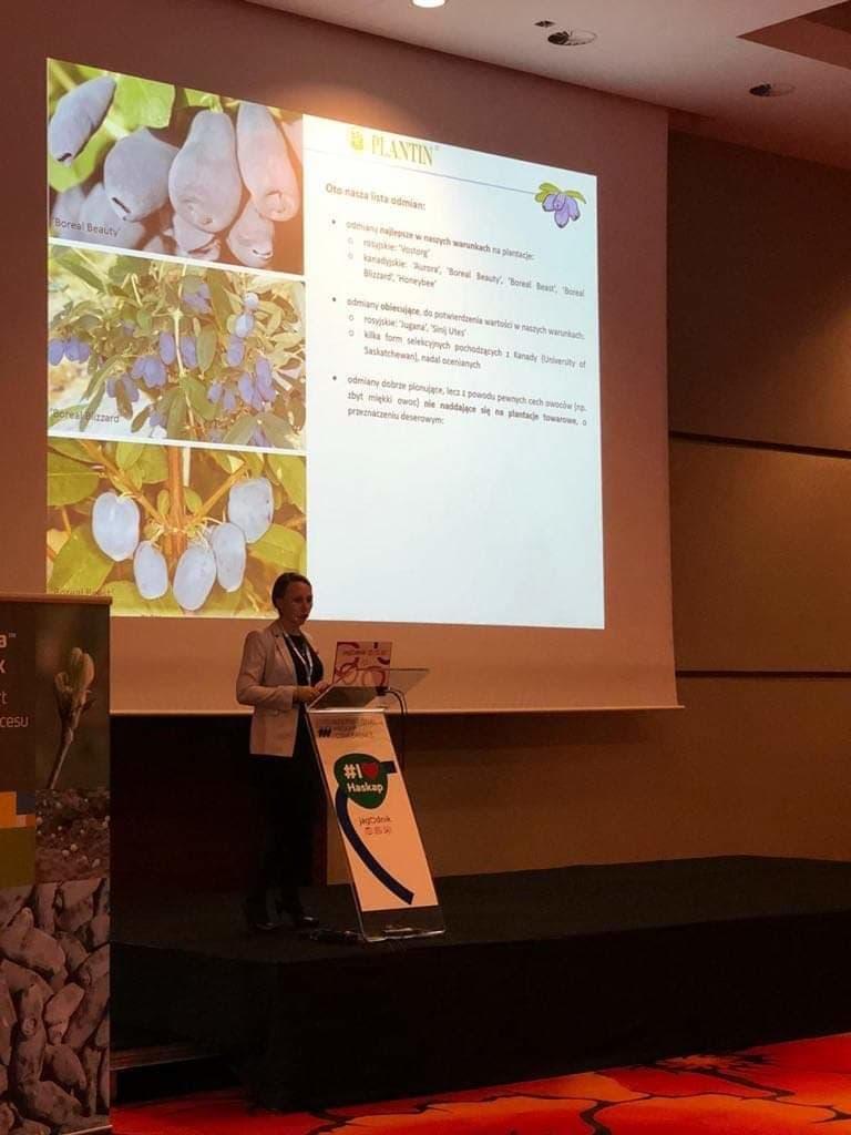 Justyna Kusibab-Mruk podczas swojej prezentacji
