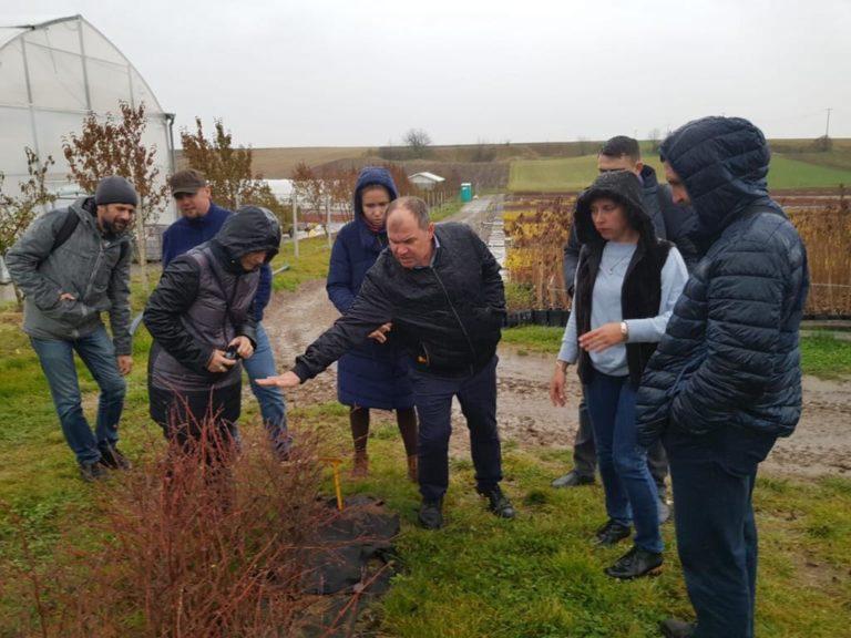 Delegacja z Rosji na plantacji jagody kamczackiej